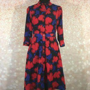 Banana Republic Womens Floral Shirt Dress Size 0P